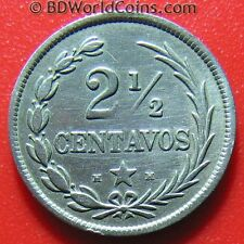 DOMINICAN REPUBLIC 1888-H 2 1/2 CENTAVOS VERY NICE DETAILS! COPPER-NICKEL 18mm