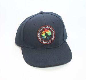 Polo Ralph Lauren Sportsman Wilderness Patch Navy Blue Baseball Cap Hat New