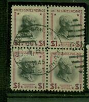 USA, Wilson Nr. 439A gestempelt Viererblock