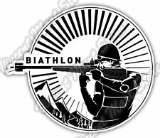 "Biathlon Cross-Country Ski Race Rifle Gun Car Bumper Vinyl Sticker Decal 4.6"""