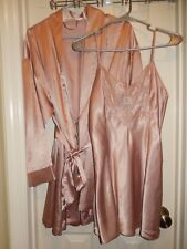 VICTORIA'S SECRET 2 Pc Chemise Nightie + Robe Set Tag Size S & O/S