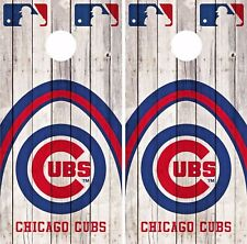 Chicago Cubs Cornhole Skin Wrap Mlb Game Wood Decal Vinyl Sticker Logo Dr527