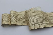 Authentic Asia COBRA Snakeskin Snake Skin belly leather hide Natural