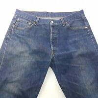 Levi's 501 Mens Jeans W35 L27 Blue Regular Fit Straight High Rise