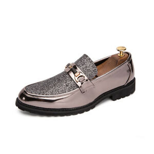 Mens Korean Driving Moccasin Flats Slip On Loafer Patent Leather Casual Shoes SZ