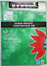 50 Count Red C-3 LED Super Bright Christmas Lights NIB