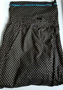 New CACIQUE 18/20 SLEEP LOUNGE PANTS GOLD METALLIC DOTS ON BLACK