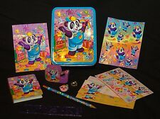 Panda Painter Lisa Frank Vintage Tin, stationery, tape, stickers, postcard, etc.
