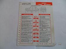 FICHE TECHNIQUE DE RTA SIMCA 1100 BERLINE N°262 02/1968         G12