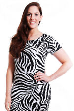 Animal Print Viscose Stretch Dresses for Women