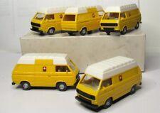 Wiking 1:87 VW T3 Transporter Hochdach Post OVP 294 PTT 5 Stück im Händlerkarton