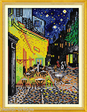 Handmade DIY Cross Stitch Embroidery Kit - Cafe Terrace at Night by Von Gogh