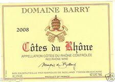 Etiquette de vin - COTES DU RHONE - Domaine Barry (171)
