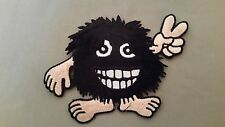hairy monster peace embroidered patch