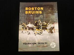 1970-71 Boston Bruins NHL Yearbook