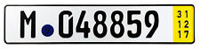 Munich BMW Yellow Temporary German License Plate with Unique Number NEW