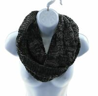 Cejon Womens Black and Gray Infinity Scarf Winter Casual One Size