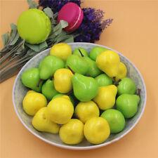 50PCS/Pack Artificial Pear Miniature Realistic Fruit Ornament Decor Wedding Part