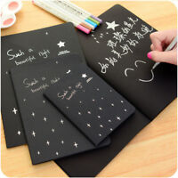 56K Black Paper Notepad Sketch Graffiti Notebook for Drawing Painting Soft Cover