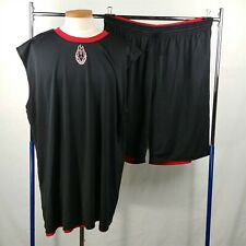 Adidas Black & Red Reversible Basketball Shorts Jersey Set Mens Size 4XLT