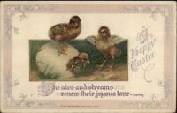 Winsch Easter - Hatching Chicks c1910 Postcard