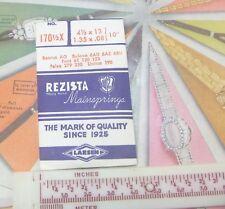 NOS Rezista Wristwatch Mainspring 170 1/2 Bulova 6AU Font 61 120 Unitas 190 N/R