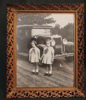 "Black White Photo 1930s Maloof Twins Atlanta GA Filigree Frame 8x10"""