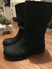 Boden Ladies Black Leather Calf Boots 36/3