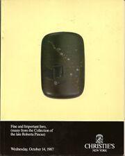 CHRISTIE'S JAPANESE INRO NETSUKE OJIME Pincus Collection Auction Catalog 1987