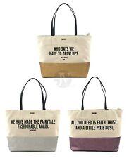 Новые женские KATE SPADE (PXRU9479) DISNEY PARKS DISNEY цитата холст сумка с короткими ручками