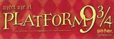 PLATFORM 9 3/4 Harry Potter Full Color 3x9 Locker Wall Mirror Sticker Book Decal