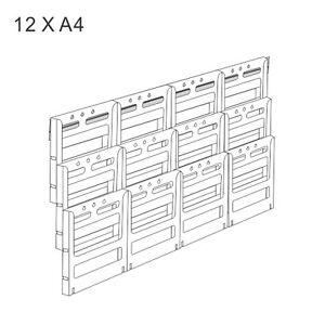 12 X A4 - deflect-o® Lit-Loc Wall Mount Brochure / Pamphlet Holder Display Unit