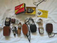 Lot of 10 Vintage General Electric Weston Norwood Bewi Metraphot Light Meters