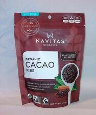 Navitas Organics Cacao / Cocoa Nibs 8 oz Bag. Organic Non-GMO Fair Trade 8 ounce