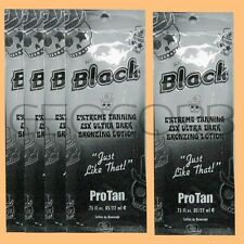 5 PROTAN UNBELIEVABLY BLACK 25X DHA BRONZER PACKET TANNING BED LOTION SAMPLE