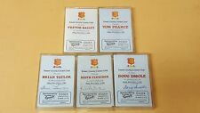 5 X VINTAGE ESSEX COUNTRY CRICKET CLUB CASSETTE TAPES SOME SIGNED INSOLE TAYLOR