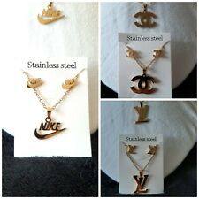 Gold Earrings Necklace Set Fashion Luxury Brand