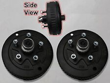 5 x 5.5 Pair of Brake Assembly Spindle Kit Stub End Unit Trailer Axle 3500 84