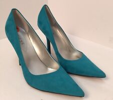 "Guess Womens Stiletto Pumps - 4"" High Heels Pointed Toe Turquoise Suede Size 9.5"