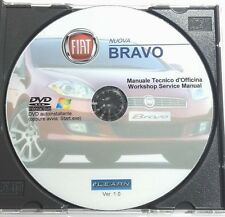 DVD MANUALE OFFICINA FIAT NUOVA BRAVO 1.4 16V-T-JET-1.9 JTD 8V 16V MULTIJET prm