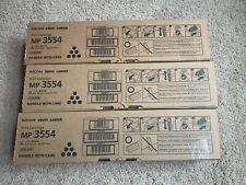 (3) Genuine Ricoh MP 3554 842124 Black Toner