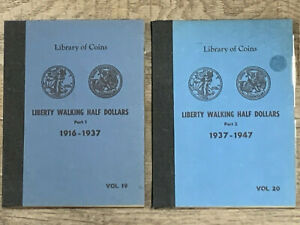 (2) LIBRARY OF COINS COIN ALBUMS - WALKING LIBERTY HALF DOLLARS - VOL 19 & 20