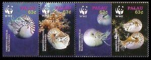 Palau WWF Chambered Nautilus Strip of 4v 2006 MNH SG#2153-2156