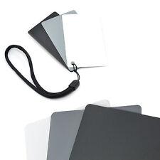 3 en 1 Carte Gris Blanc Balance de Blanc Température Couleur Exposition Photo