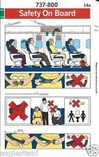 Safety Card - SAS - B737 800  (S3564)
