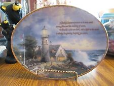 "Thomas Kincade's Guiding Lights Collector Plate ""A Light in the Storm"" # 6935 B"