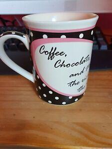 Humorous Mug - Coffee, Chocolate and Men ... The Richer The Better BNIB