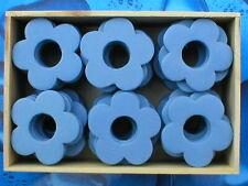 Holzblumen Holzblüten Lochblumen hellblau 4 cm [ 2 Holzboxen = 96 Stück ]
