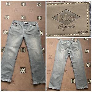 "lee cooper originals grey jeans button fly W 38"" inside leg 31""  (81)"