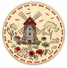 Embroidery on a wooden base kit Sliver by MP Studio O-021 - Rural mill